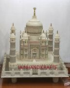 18and039and039 White Marble Taj Mahal Collectible Replica Use Table Top Center Home Decor