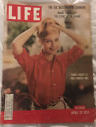 Vintage Life Magazine April 22 Cover 1957 Carrol Linley Actress Age 15 Starlet