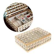 Crystal Jewelry Organizer Box Countertop Necklace Case Storage Case Boxes
