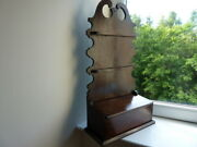 Early 19th Century Mahogany Spoon Rack /candle Box Superb Colour.