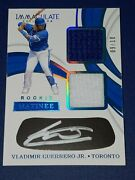 2019 Immaculate /10 Vladimir Guerrero Jr Rookie Matinee Auto Jersey Patch Card