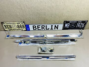 Mercedes-benz W116 Rear Corner And Center Chromes Trim Molding Set And Trunk Lock