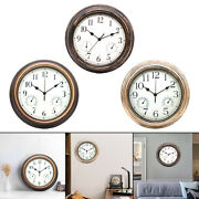 Non Ticking Wall Clock Temperature And Humidity Hanging Clocks Kitchen Decor