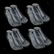 8pcs Female Mannequin Foot Thong Style Sandal Jewelry Model Display Clear