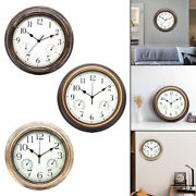 Simple Round Silent Wall Clock Temperature And Humidity Clocks Kitchen Decor