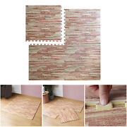 Farmhouse Collection Thick Wood Grain Mats Tile 2.36in Home Puzzle Mat Diy