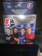 Lot 4. 2021 Official Nwsl Trading Cards Premier Edition Hanger Box Womens Soccer