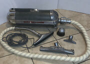 Vintage Electrolux Canister Vacuum Cleaner Model 30 Sled Chrome Canister 1940and039s