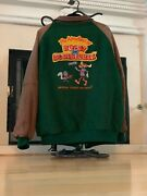 Vintage Rocky And Bullwinkle Looney Tunes Wool And Leather Jacket Universal