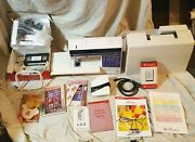 Husqvarna Viking Rose Sewing Machine Programmable Embroidery Manual Cards More