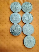 Swaziland 50 Fifty Cent Coins Date Run 7 Coins
