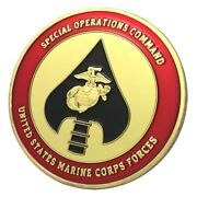 U.s. Marine Corps Forces Usmc Special Operations Command Marsoc Gold Plated Coin