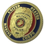 U.s. United States Marine Corps Usmc   Military Police Mp   Gold Plated Coin