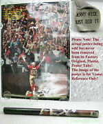 Nitf ☆ Vintage Nike Poster ☆ Just Did It Jerry Rice 101 49ers Old Stock W/label