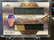 2019-20 Leaf In The Game Used Brett Hull Dual Relic 3 Color /25