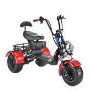 3 Wheels Trike Electric Scooter Golf Cart Fat Tire Citycoco - Usa Seller
