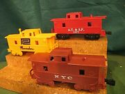 3 Different Variations Inc Pacemaker Atandsf And Nyc Marx Cabooses 4 Wheel