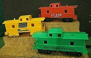 3 Different Inc Pacemaker Atandsf And Green Sandp Marx Cabooses 4 Wheel