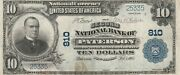 Usa National Currency 1902 The Second National Bank Of Paterson N.j. 10 Note