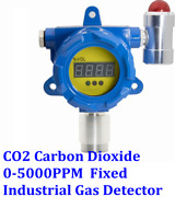 Co2 Carbon Dioxide Fixed Gas Detector Display Alarm Industrial Monitor 0-5000ppm