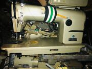 Industrial Juki Ddl-555-5 Leather Sewing Machine And Motor Good