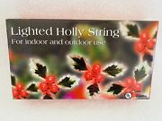 Christmas Holly String Lights Holly Leaf Berry 13and039ft Retro Costco