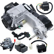 150cc Gy6 Scooter Atv Go Kart Air Cooled Complete Engine Set Long Case 4 Stroke