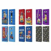 Official Minions Minion British Invasion Leather Book Case For Samsung Phones 3