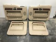 11-16 Ford F250sd F350sd Door Trim Panel Complete Set Tan Kingr Leather Pwr