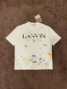 Gallery Dept X Lanvin White Painted Short Sleeve Tee Size M
