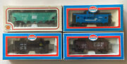 """1 """"bachmann"""" And 3 """"model Power"""" Trains Ho Scale Cattle, Caboose, Dixie, Penn Cent"""