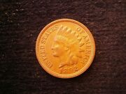 1892 Indian Cent Jeweled Forehead S-6 Ch Au