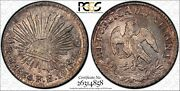Mexico City Mint Republic 1860-mo-fh/gc 1/2 Real Silver Coin Certified Pcgs Ms63