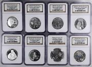 Poland Mixed 10 Zlotych 8 Pieces, 2004-2007 All Certified Ngc Pf69 Ultra Cameo