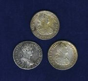 Mexico Spanish Colonial 1 Real Silver Coins 1800, 1801, And 1816, Lot Of 3