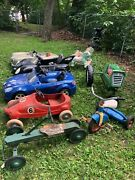 Wow 7 Piece Vintage Full Size Pedal Car Ride-on Lot Buy One Some Or All