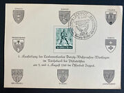 1940 Zoppot Danzig Germany First Day Souvenir Sheet Cover