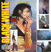 Michael Jackson Black And White 3 French Fr Magazine Fanzine Poster Posters 1992