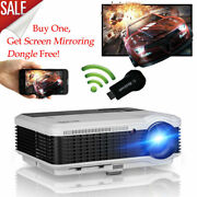 1080p Led Projector Home Theater Film Game Hdmi Bundle Wireless Display Receiver