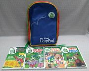 My First Leappad Leapfrog Learning System Carry Bag + Lot Of 4 Video Dvds