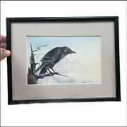 The Raven By Sue Coleman 1990 Reprint Lithograph