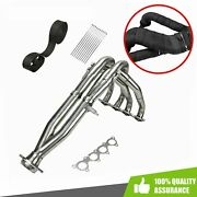 Tri-y Exhaust Header And Black Wrap Tape Fit 1994-2001 Acura Integra Gs-r 1.8l