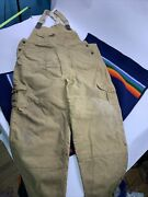 Vtg Filson Tin Cloth Cotton Waxed Overalls Pants Menand039s Size 42 Style27 Coveralls