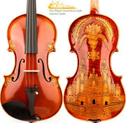 Master Antique Guarnerius Style Violin 4/4 European Wood Carved Castle Open Rich