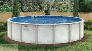 Pool 18and039 Round X54 Above Ground Galvanized Steel - Stoney Liner - Wall Skimmer