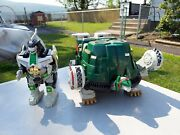 1993 Mighty Morphin Power Rangers Tor Shuttle And Dragonzord Lot Look