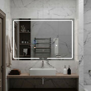 Aquadom Vision, 48 X 32 X 1, Led Lighted Bathroom Mirrors With Built-in Tvs