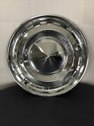 Vintage 1955 Chevrolet Chevy Chrome Pointed Dome Hubcaps Wheel Covers 15