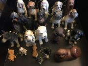 Lot 21 Dogs Ornament Hanging Decoration Figure Statue Miniature Christmas Gifts