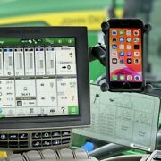 Phone Mount And Holder For Gen 4 Display In A Combine Or Tractor